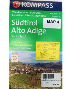 KOMPASS SUDTIROL/ALTO ADIGE Map 4 - 1:50,000