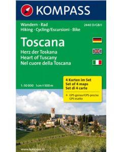 KOMPASS TOSCANA 4 Map Set 1:50,000