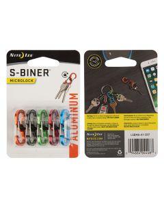 NITE IZE S-BINER MICROLOCK ALU 5 PACK Assorted