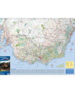 MERIDIAN SOUTH EAST AUSTRALIA TOURING MAP 1-400,000