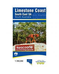 LIMESTONE COAST SOUTH EAST SA MAP 1-350,000