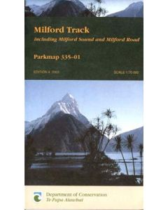 NZ MILFORD TRACK MAP
