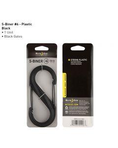 NITE IZE S-BINER PLASTIC SIZE 6 BLACK