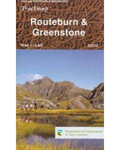 NZ ROUTEBURN - GREENSTONE MAP