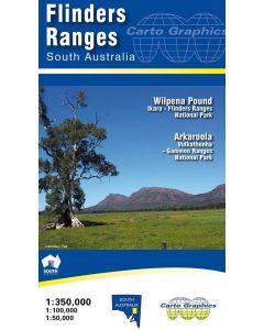 FLINDERS RANGES MAP 1-350,000