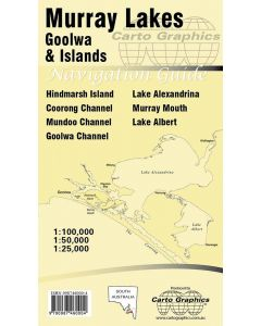 MURRAY LAKES GOOLWA AND ISLANDS MAP