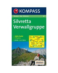 KOMPASS SILVRETTA VERWALLGRUPPE Map 1:50,000