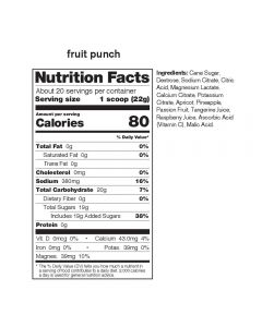 SKRATCH LABS Sport Hydration Drink Mix, Fruit Punch, 22g