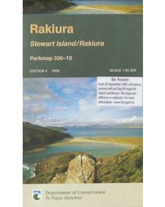 NZ STEWART ISLAND/ RAKIURA MAP