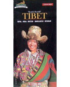 TIBET (NEPAL, INDIA, BHUTAN, BANGLADESH, MYANMAR) MAP 1:3,000K