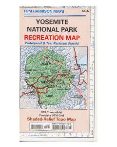 YOSEMITE NAT PARK MAP - TOM HARRISON - 1:125,000