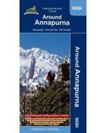 AROUND ANNAPURNA TREKKING MAP 1:100,000
