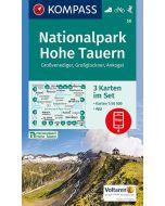 KOMPASS NATIONALPARK HOHE TAUERN 3 Map Set 1:50,000