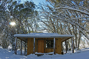 One of the huts at Mt Stirling