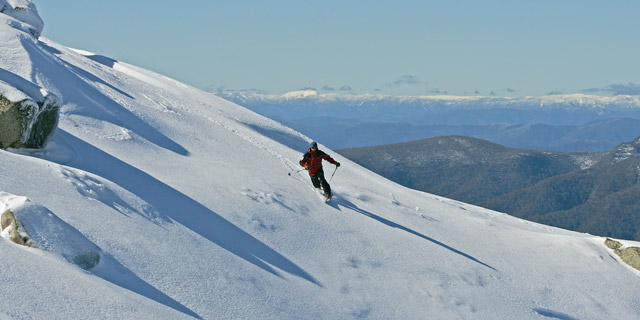 A Telemark Skier on the Stanley Bowl