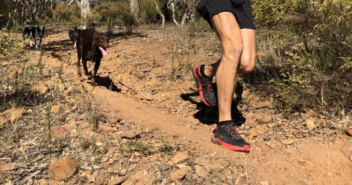 Matt Crehan in the La Sportiva Karacal on his local trails
