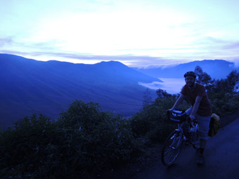 Dawn at the crater rim overlooking Mt Bromo, Java