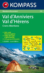 Val d'Anniviers 1:50,000 Map