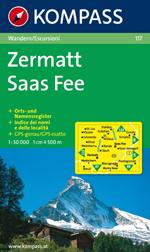 Zermatt 1:50,000 Map
