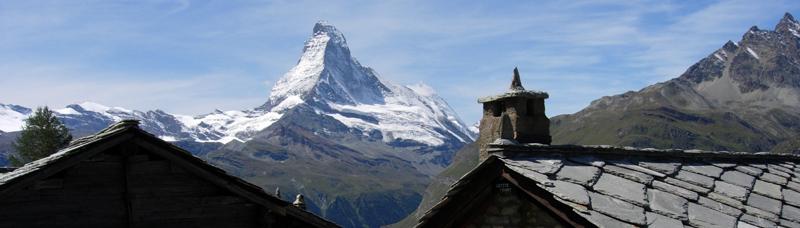 View of the Matterhorn from on the Europaweg