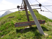 Goods lift. Food & drink are sent from the valley on lifts like these.