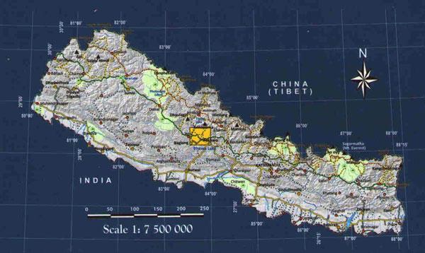 Ghorepani locator map