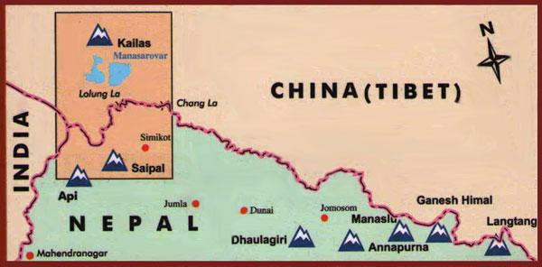 kailas locator map