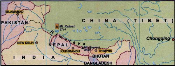 Kailash locator map