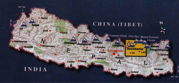 Khumbu Locator Map