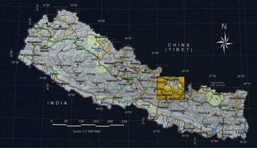 Langtang Locator map