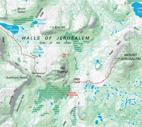 Sample of Walls of Jerusalem Map