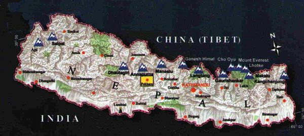Pokhara City locator map