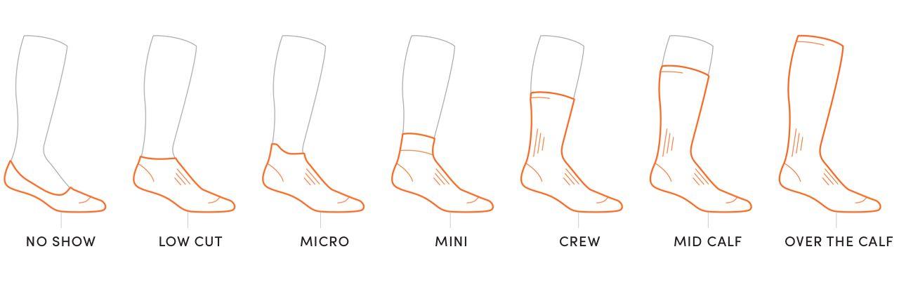Icebreaker sock height chart