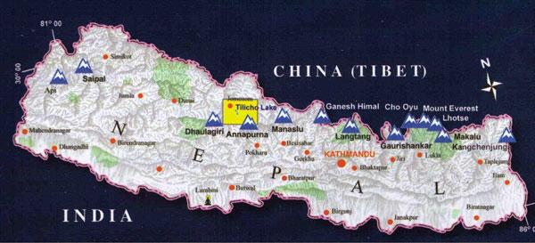 Tilicho locator map