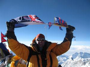 Celebrating a successful ascent!