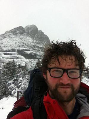 Mark enjoying the Tasmanian conditions