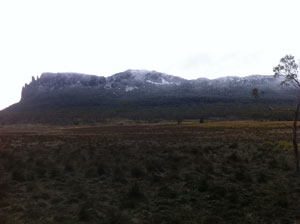 View of Mt Oakleigh from Pelion Hut